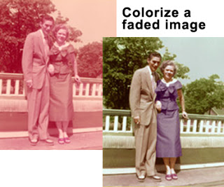 50s faded photo restored - cliff ping